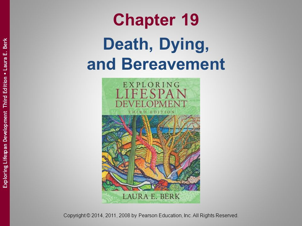 Copyright © 2014, 2011, 2008 by Pearson Education, Inc. All Rights Reserved. Exploring Lifespan Development Third Edition  Laura E. Berk Chapter 19 D