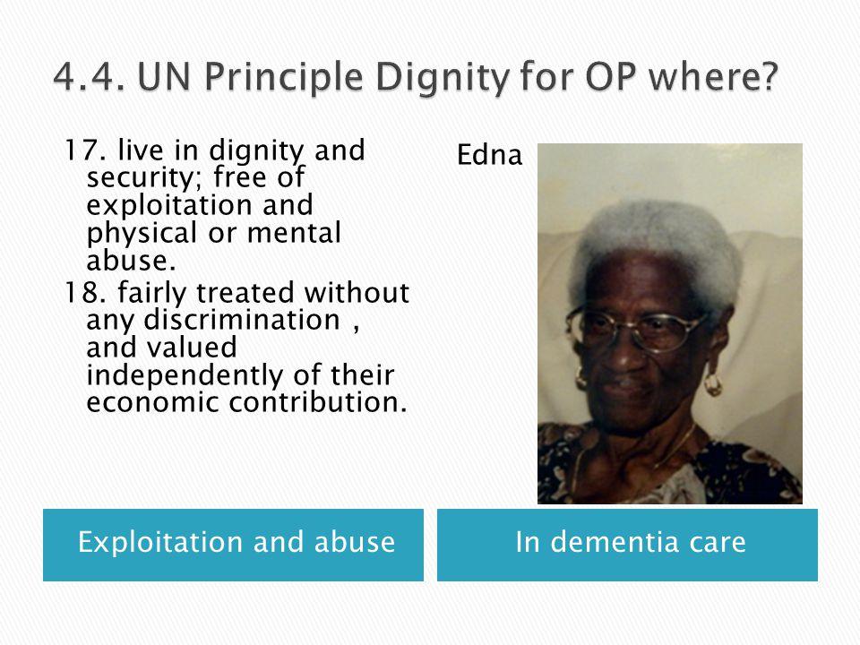 Exploitation and abuseIn dementia care 17.