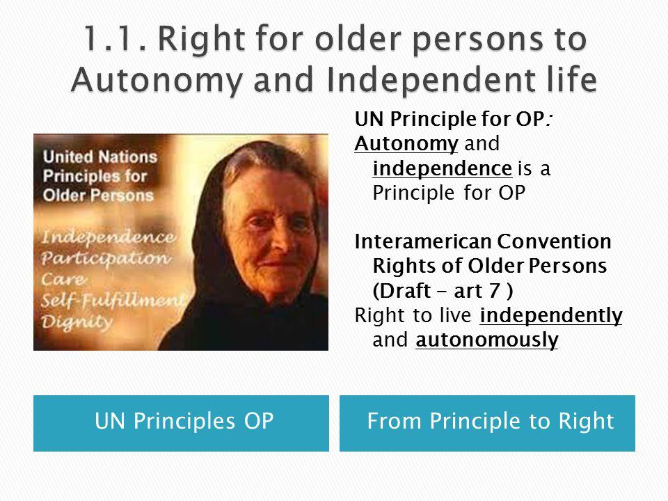 UN PRINCIPLE OF CARE FOR O{P
