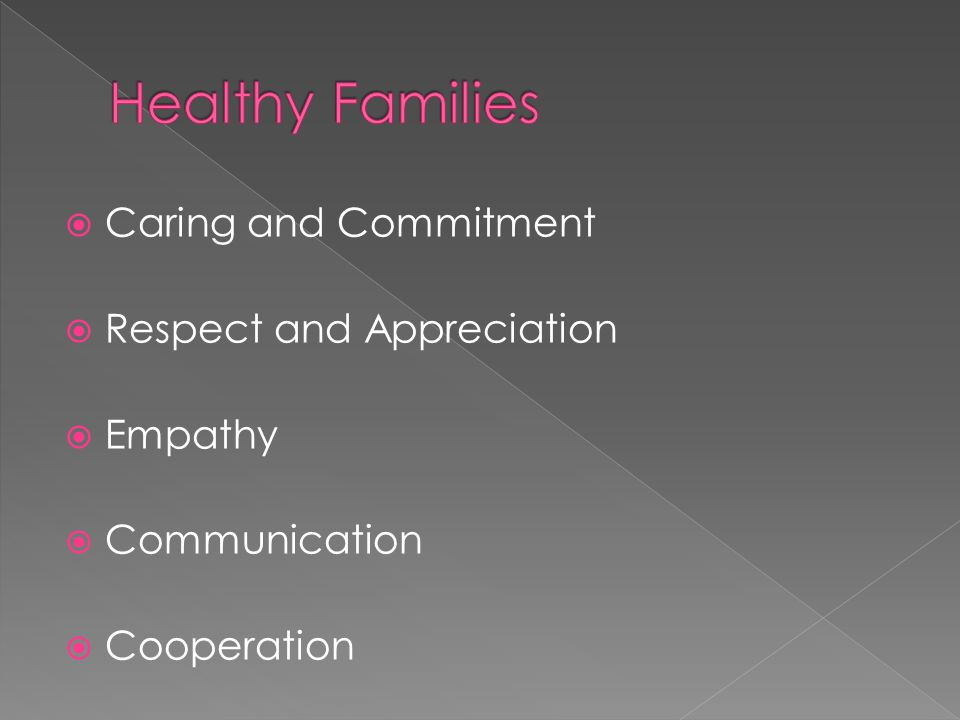  Caring and Commitment  Respect and Appreciation  Empathy  Communication  Cooperation