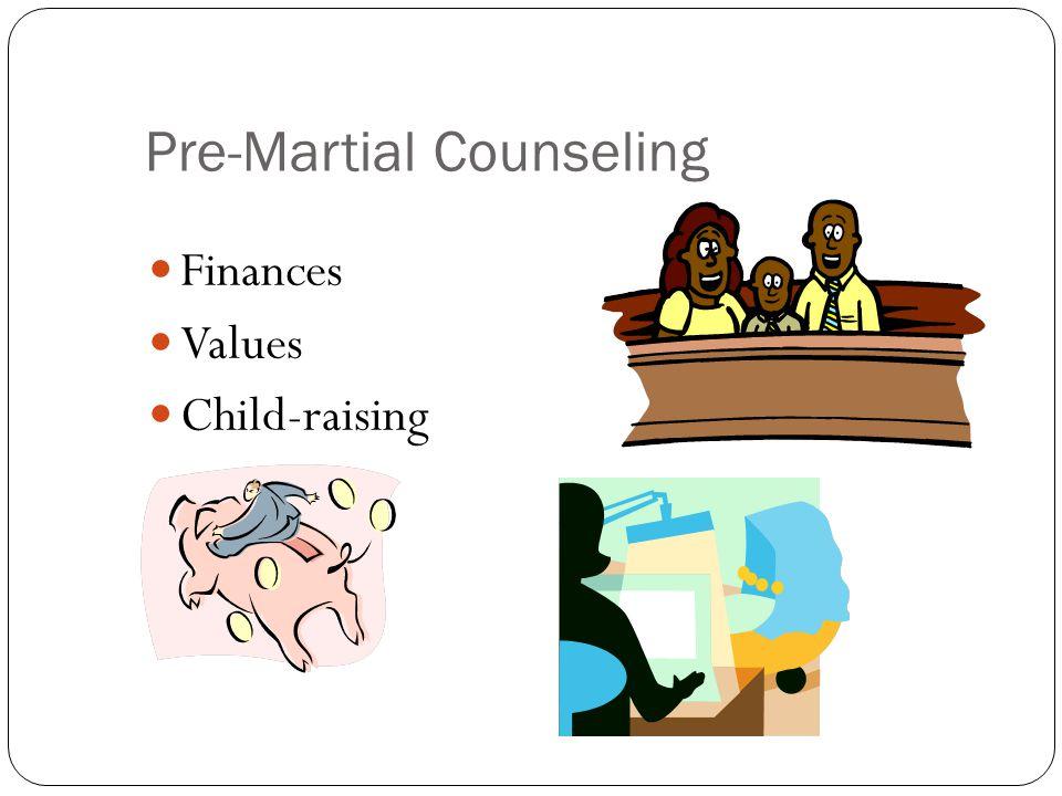 Pre-Martial Counseling Finances Values Child-raising