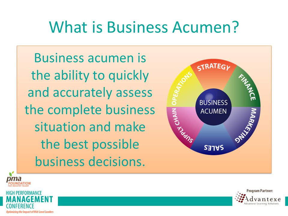 What is Business Acumen.