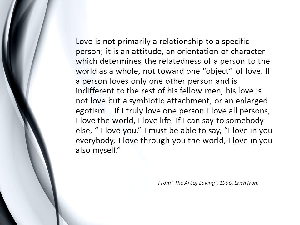 The internalizing of the attentive, validating, caring relationship to oneself.