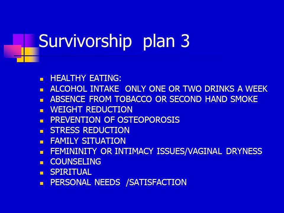 Survivorship plan -2 MAMMOGRAM FOLLOWUP SCHEDULE MRI NEEDED IF HAD BIOPSY.