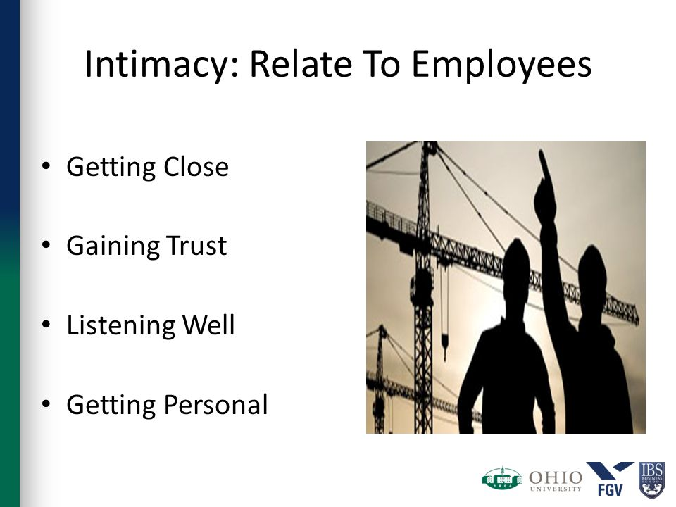 Intimacy: Relate To Employees Getting Close Gaining Trust Listening Well Getting Personal