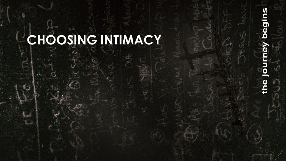 CHOOSING INTIMACY