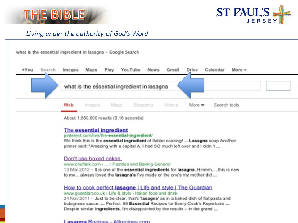 SLIDE 5 WWW.STPAULSJERSEY.ORG Living under the authority of God's Word