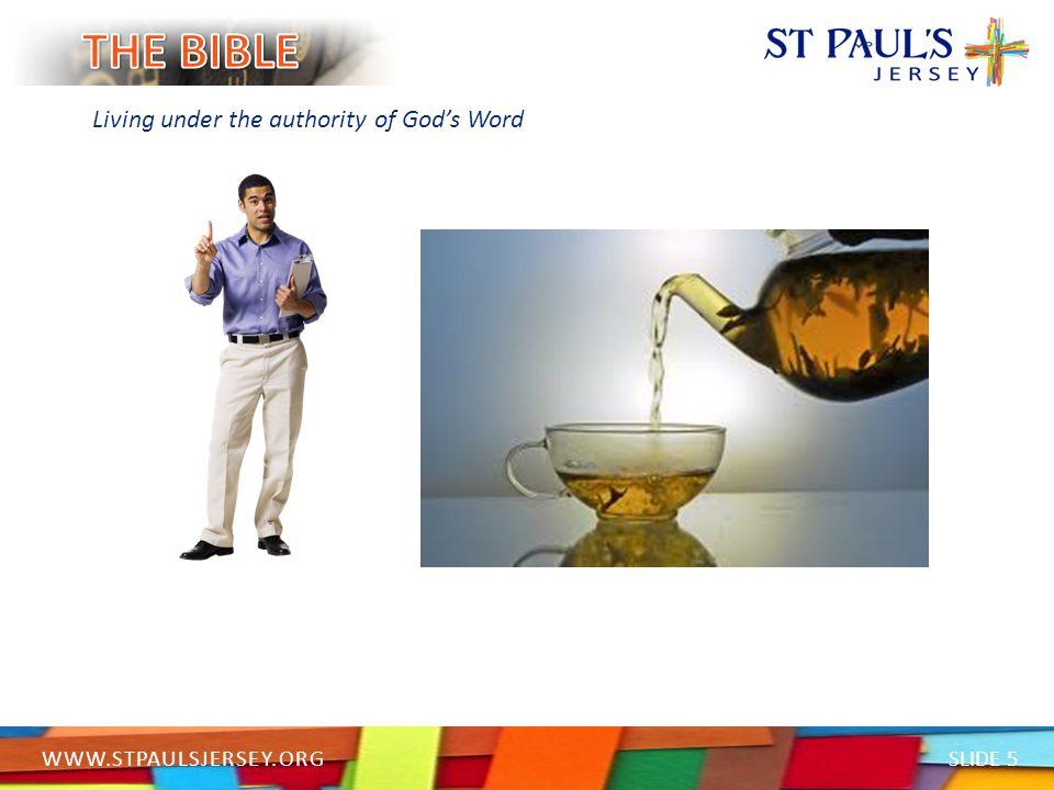 SLIDE 6 WWW.STPAULSJERSEY.ORG Living under the authority of God's Word HEBREWS