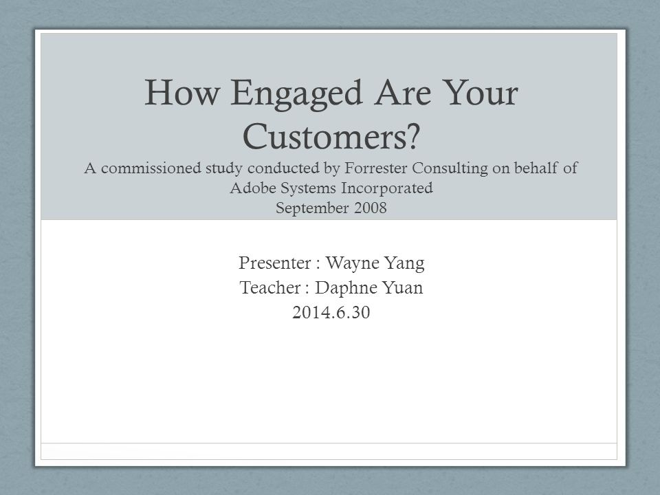 How Engaged Are Your Customers.