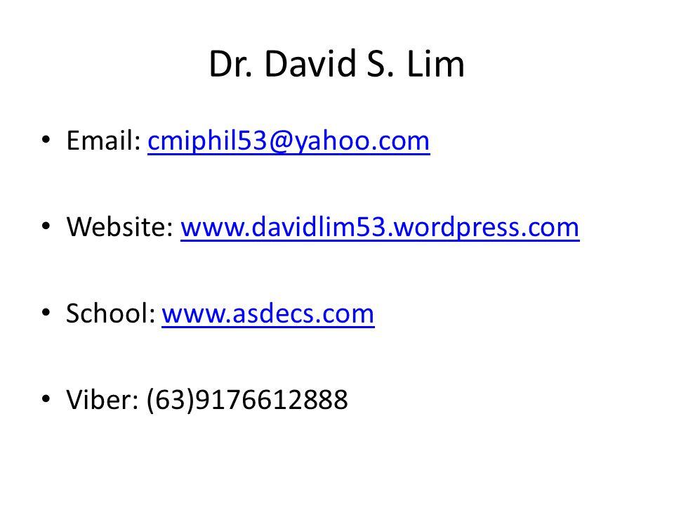 Dr. David S.