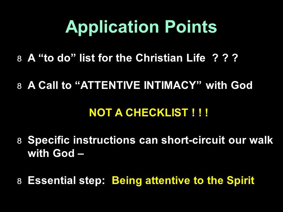 1.A Picture not a Checklist  A Practical List.
