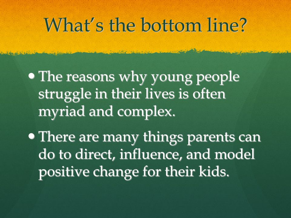 The reasons why young people struggle in their lives is often myriad and complex.