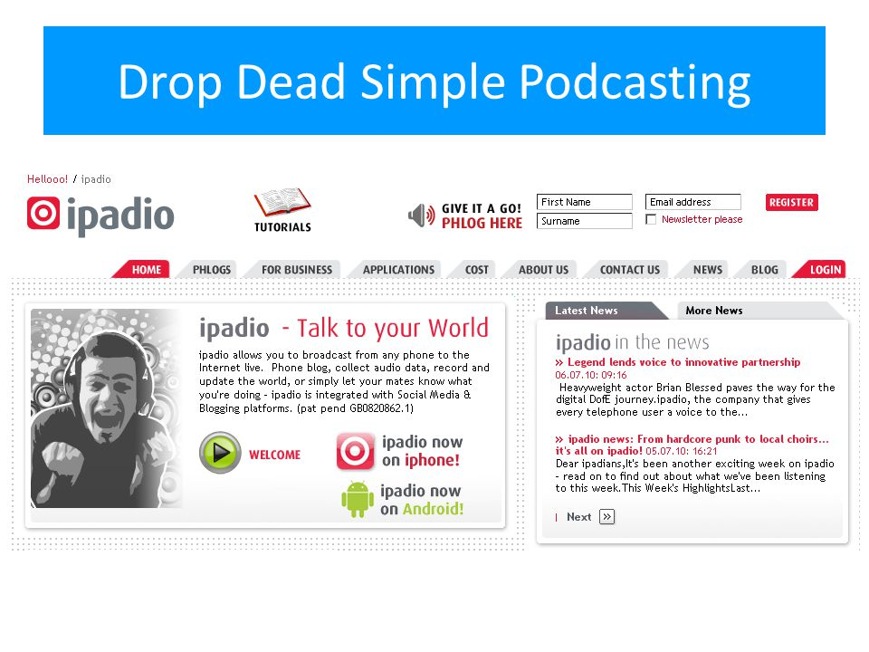 Drop Dead Simple Podcasting