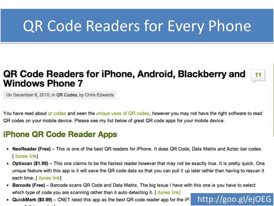 QR Code Readers for Every Phone http://goo.gl/ejOEG