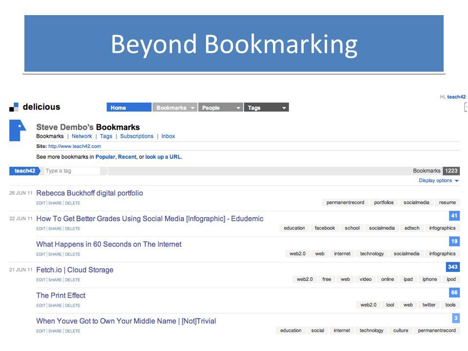 Beyond Bookmarking