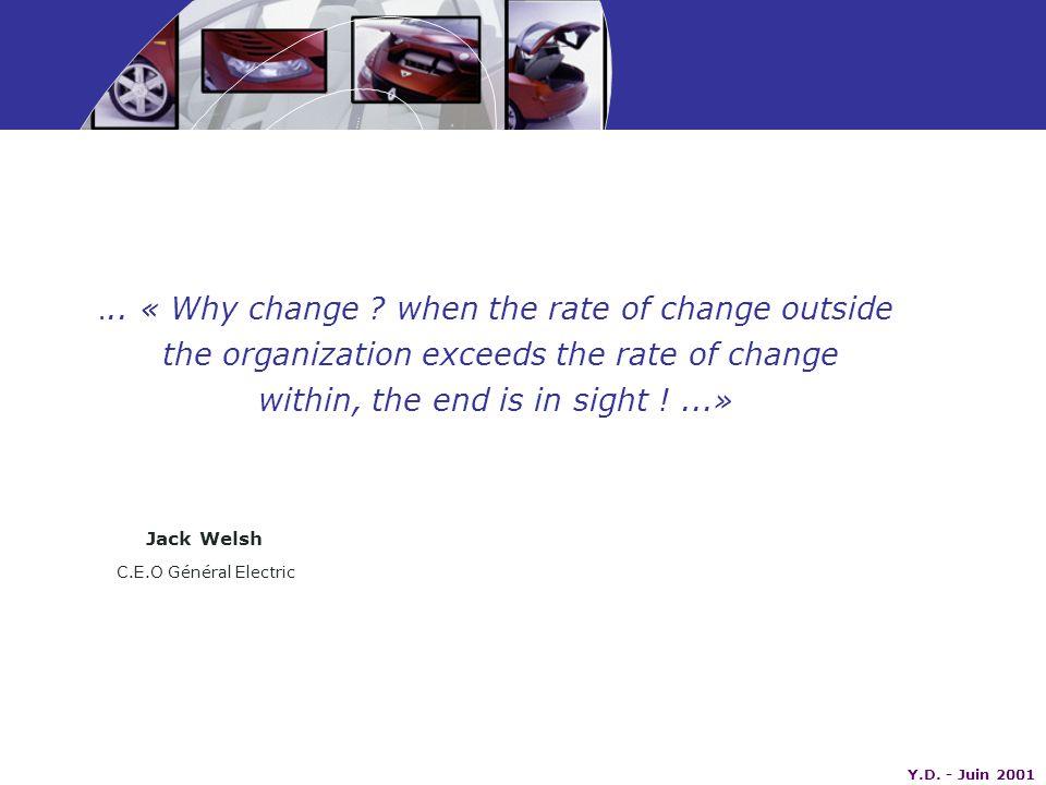 Y.D. - Juin 2001... « Why change .