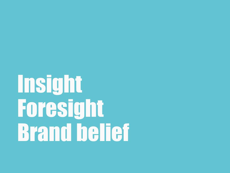 Insight Foresight Brand belief