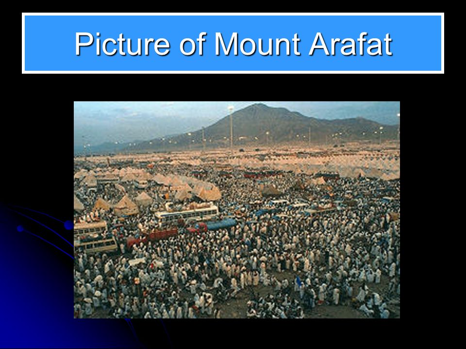 At Mount Arafat As the crowd of pilgrims hurry to complete their last pillar of Islam, they gather at what is perhaps the most historical location for all of humanity, mount Arafat.