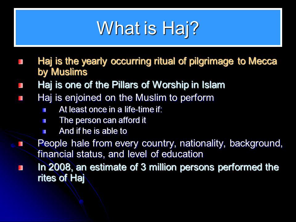 Rituals of Islamic Worship There are two branches of Islamic Faith: a.