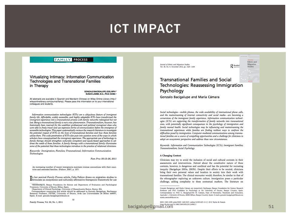 ICT IMPACT bacigalupe@gmail.com 51