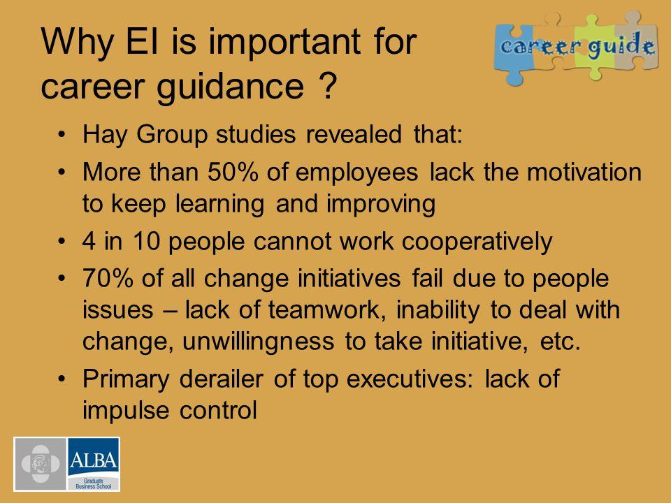 Why EI is important for career guidance .