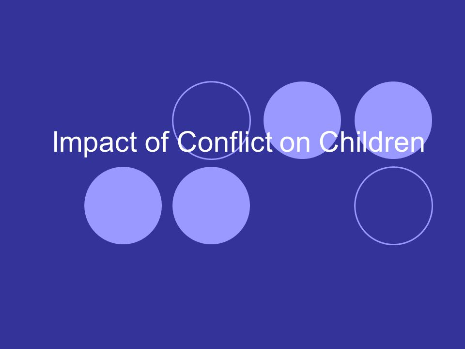 Impact of Conflict on Children