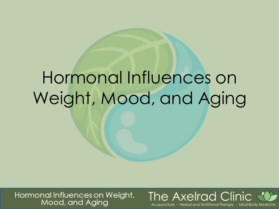 Hormonal Influences on Weight, Mood, and Aging