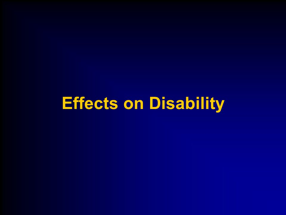 Effects on Disability