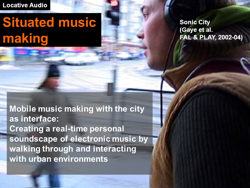 Locative Audio Sonic City (Gaye et al.
