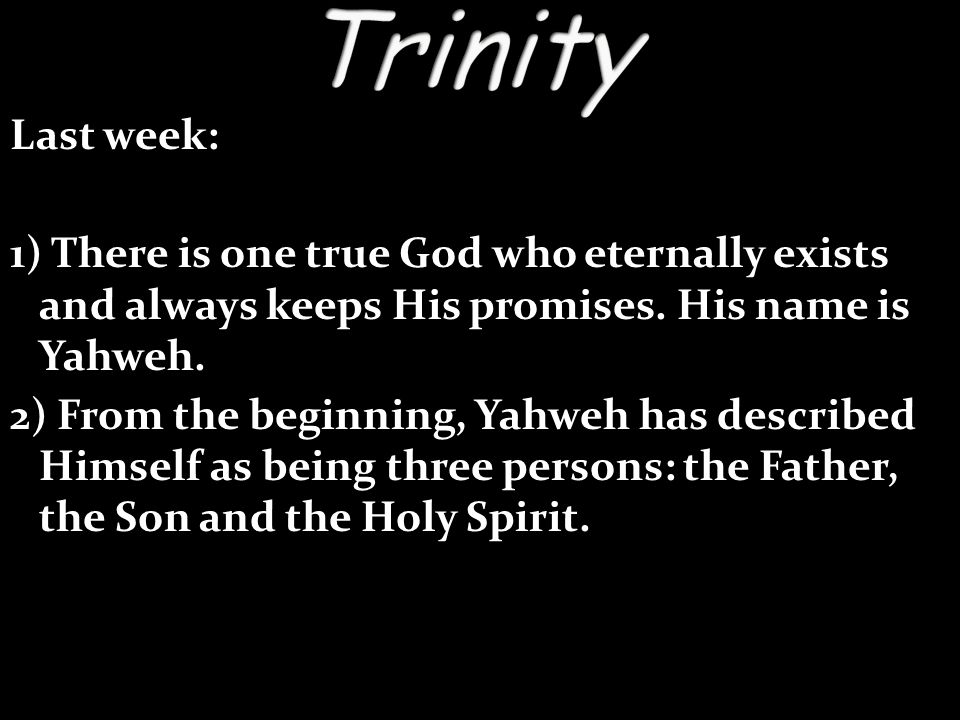 -You cannot understand the Gospel or your own salvation without understanding the Trinity.