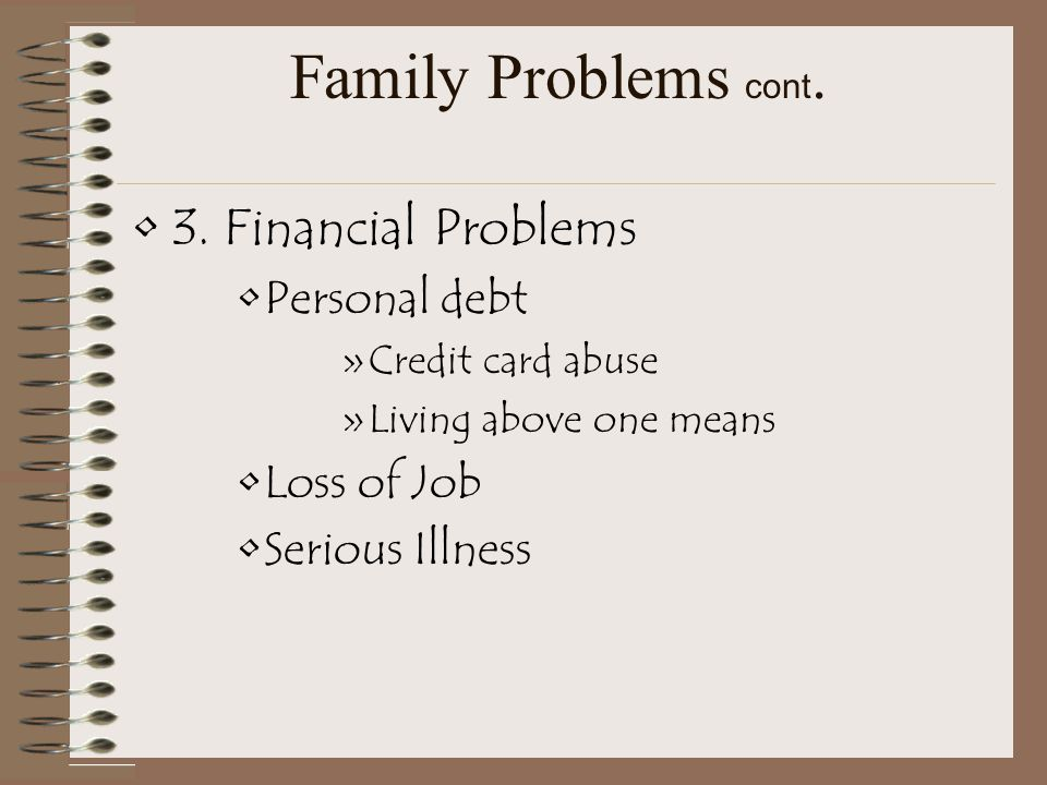 4. Family Violence –a. Physical Abuse –b. Sexual Abuse –c. Emotional Abuse 5. Runaways
