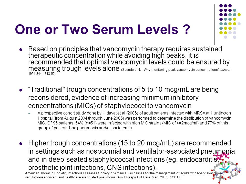 One or Two Serum Levels .