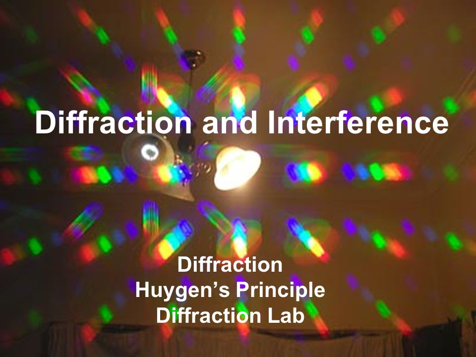 Diffraction and Interference Diffraction Huygen's Principle Diffraction Lab