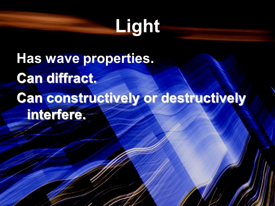 The Hologram So you see the 3-D image due to the way the hologram diffracts light and the way this diffracted light constructively and destructively interfere.