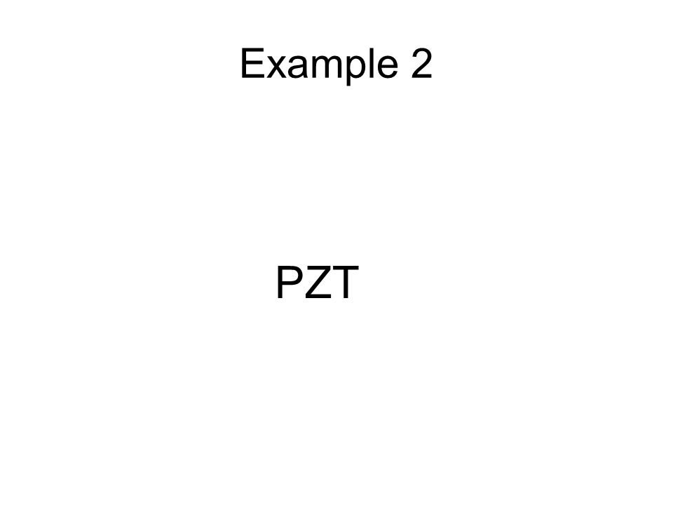 A Tetragonal PZT Lattice Parameters –a=4.0215 Å –b=4.1100 Å 011 110 111 002 200 Sample Re-polished and Re-measured What happened to cause the peaks to shift?