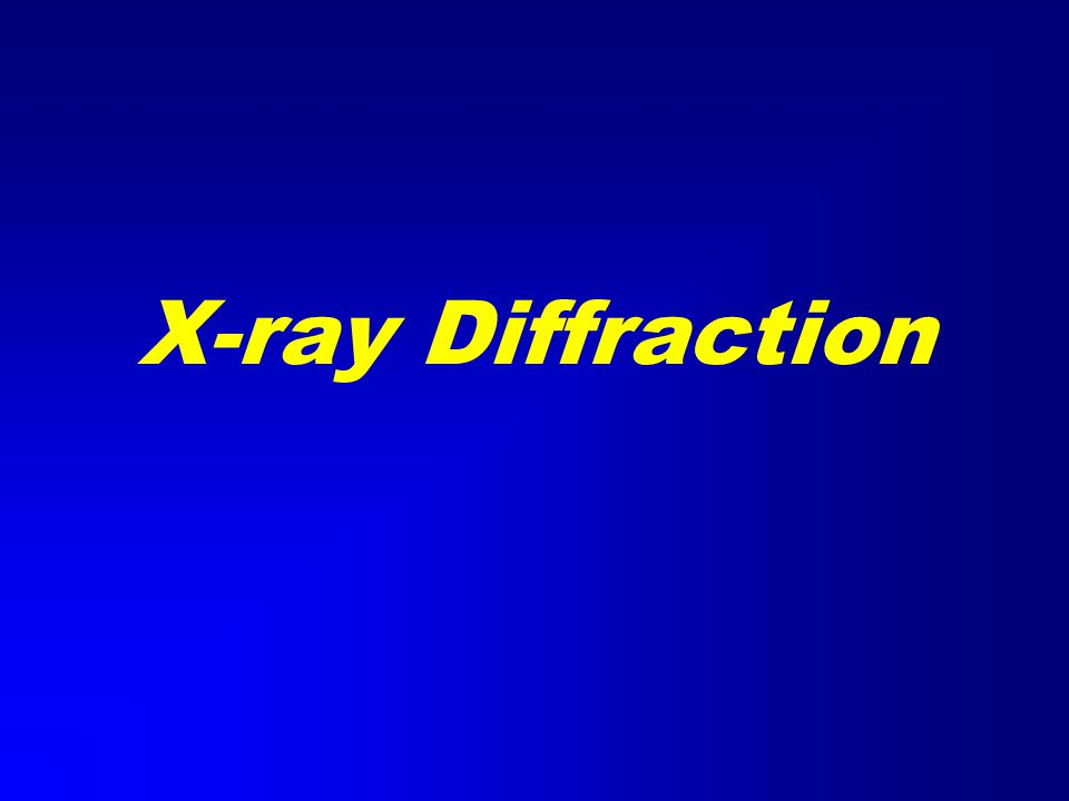 X-ray Generation X-ray tube (sealed) Pure metal target (Cu) Electrons remover inner-shell electrons from target.
