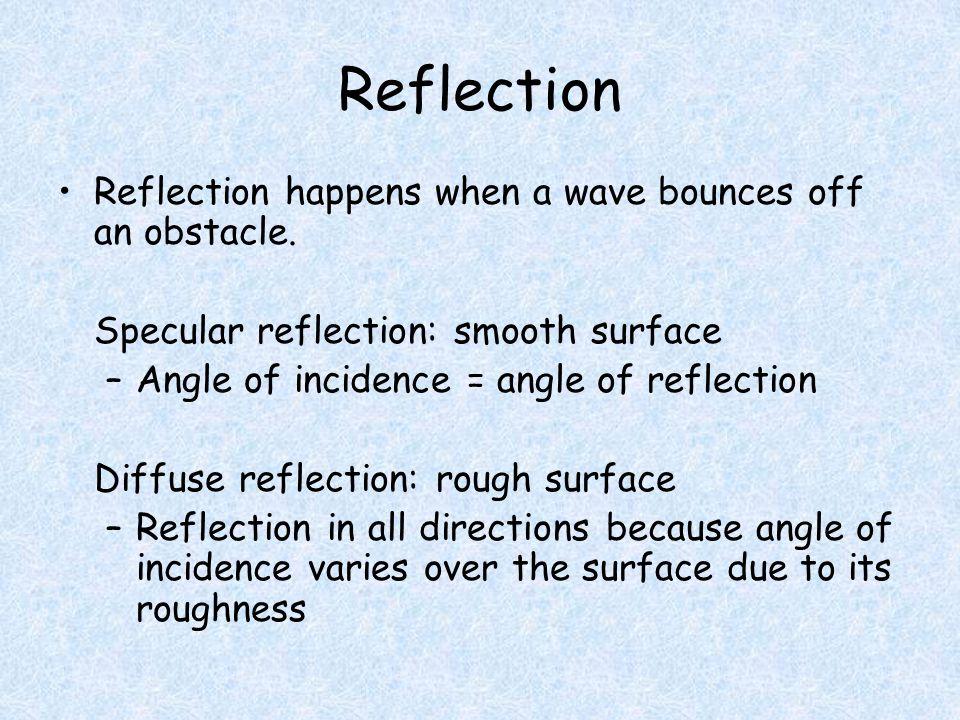 Law of Reflection angle of incidence= angle of reflection