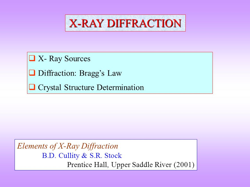 Extinction Rules Structure Factor (F): The resultant wave scattered by all atoms of the unit cell The Structure Factor is independent of the shape and size of the unit cell; but is dependent on the position of the atoms within the cell