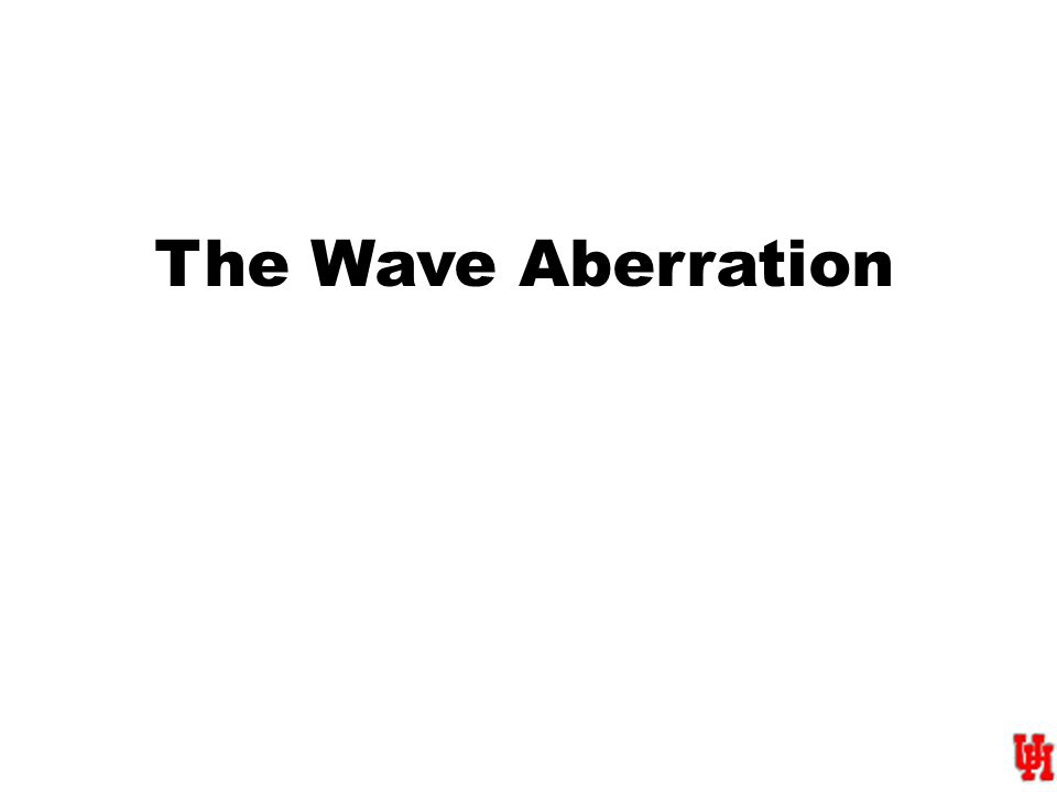 The Wave Aberration