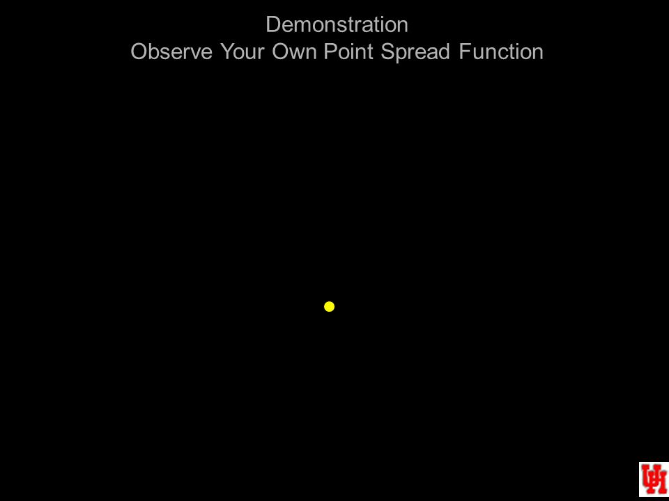 Demonstration Observe Your Own Point Spread Function