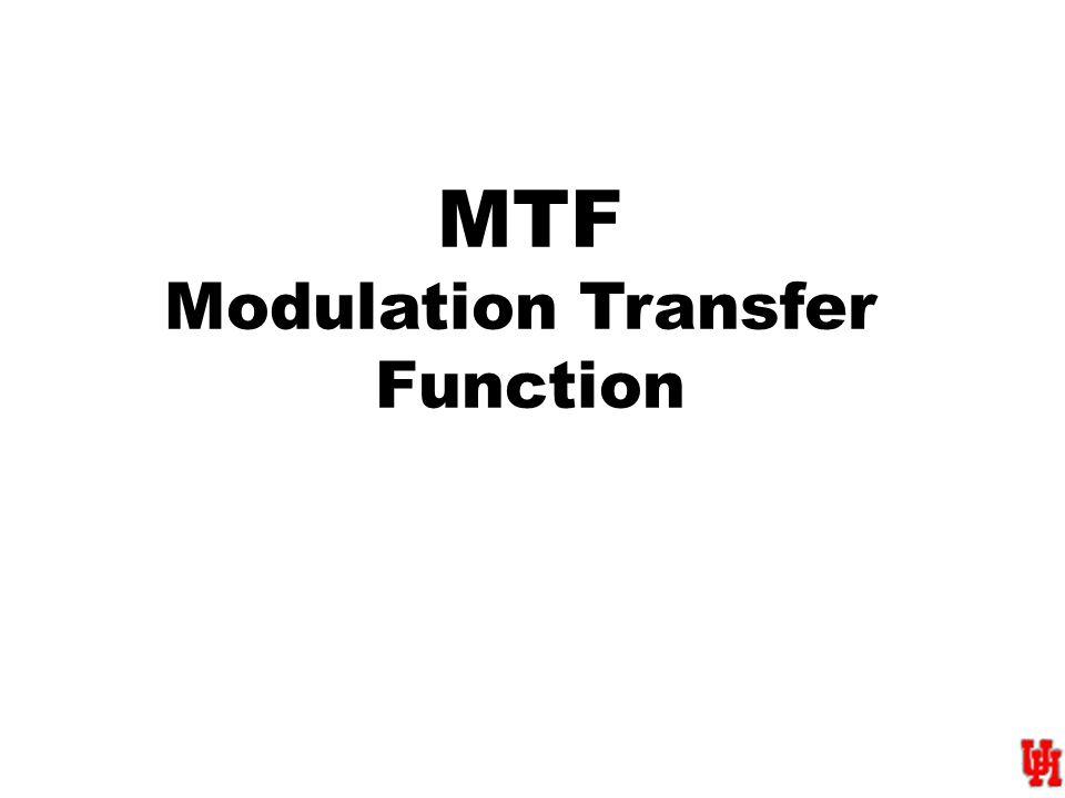 MTF Modulation Transfer Function