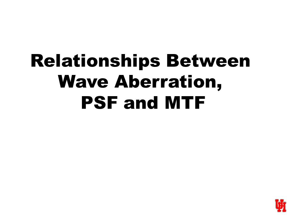 Relationships Between Wave Aberration, PSF and MTF