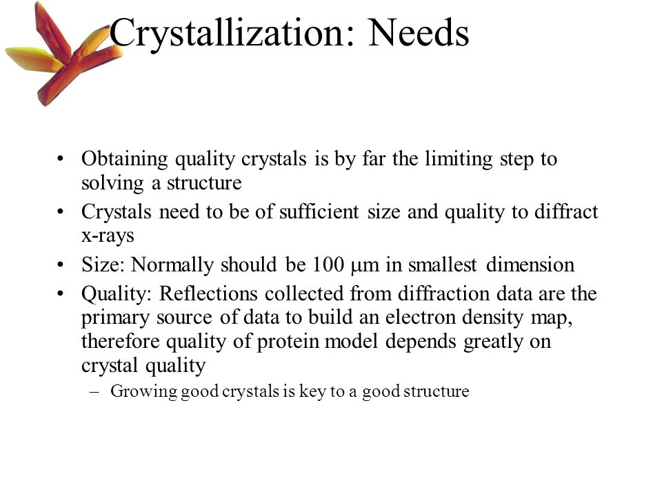 Discussion Given a hypothetical protein that doesn't give you any positive hits in your first screen what could you do to obtain quality crystals.