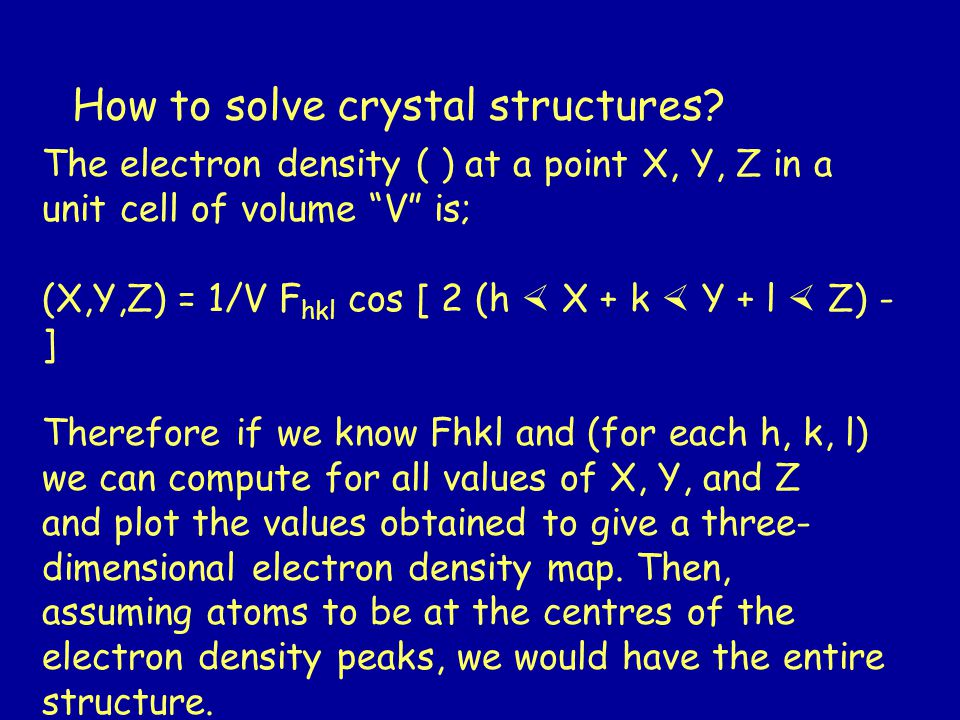 How to solve crystal structures.
