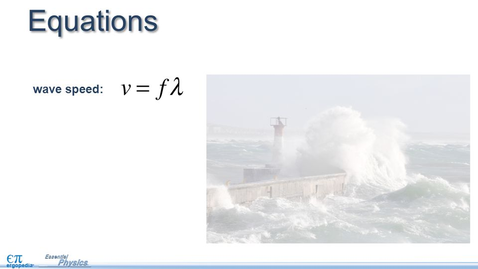Equations wave speed: