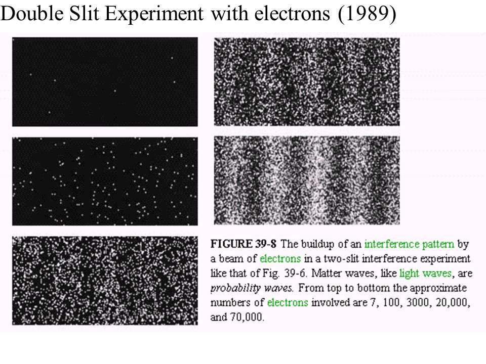 Double Slit Experiment with electrons (1989)