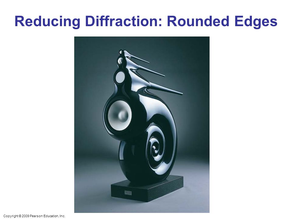 Copyright © 2009 Pearson Education, Inc. Reducing Diffraction: Rounded Edges