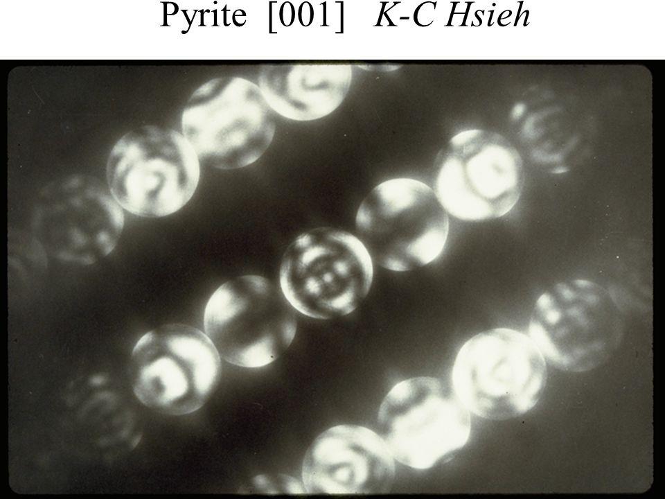 PASI Santiago, Chile July 2006 16 Eades / Convergent-Beam Diffraction: I Pyrite [001] K-C Hsieh