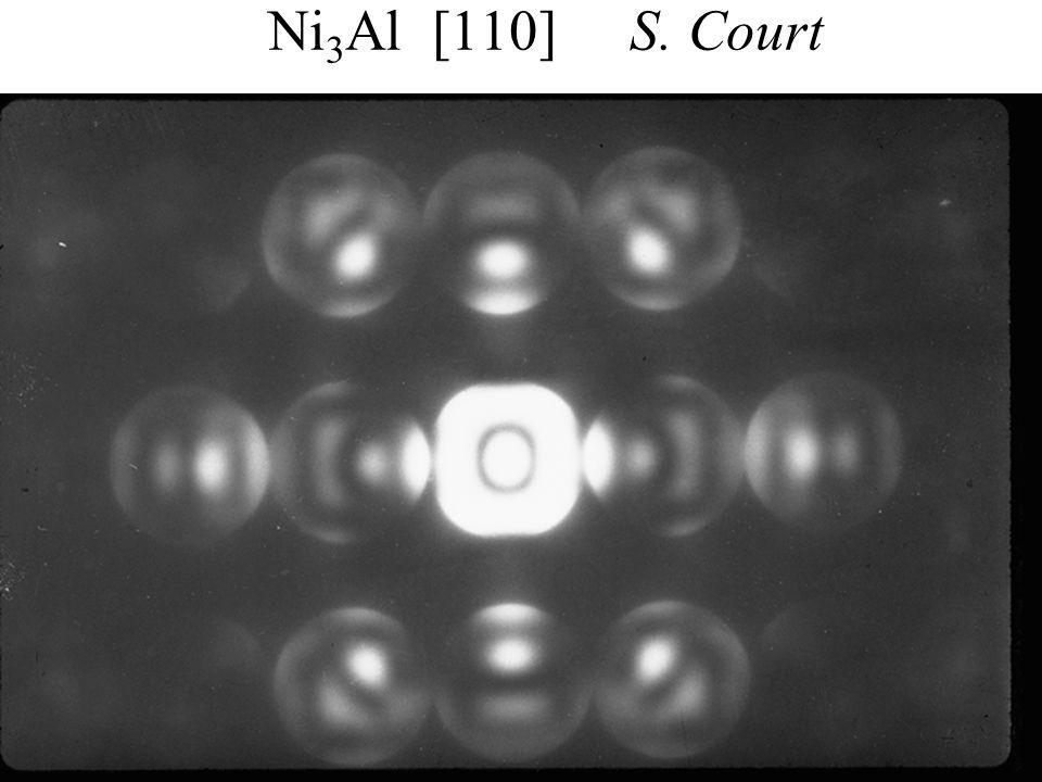 PASI Santiago, Chile July 2006 17 Eades / Convergent-Beam Diffraction: I Ni 3 Al [110] S. Court