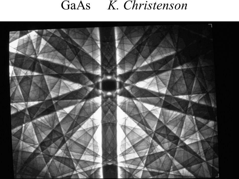PASI Santiago, Chile July 2006 49 Eades / Convergent-Beam Diffraction: I GaAs K. Christenson